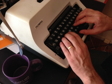 author-matthew-quinn-martin-typing-new-novel