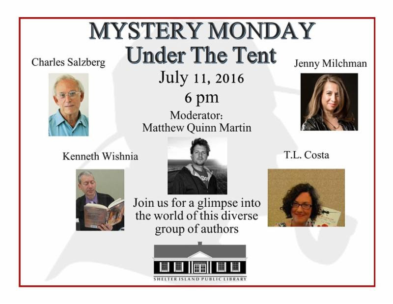Shelter Island Library Mystery Monday Under the Tent